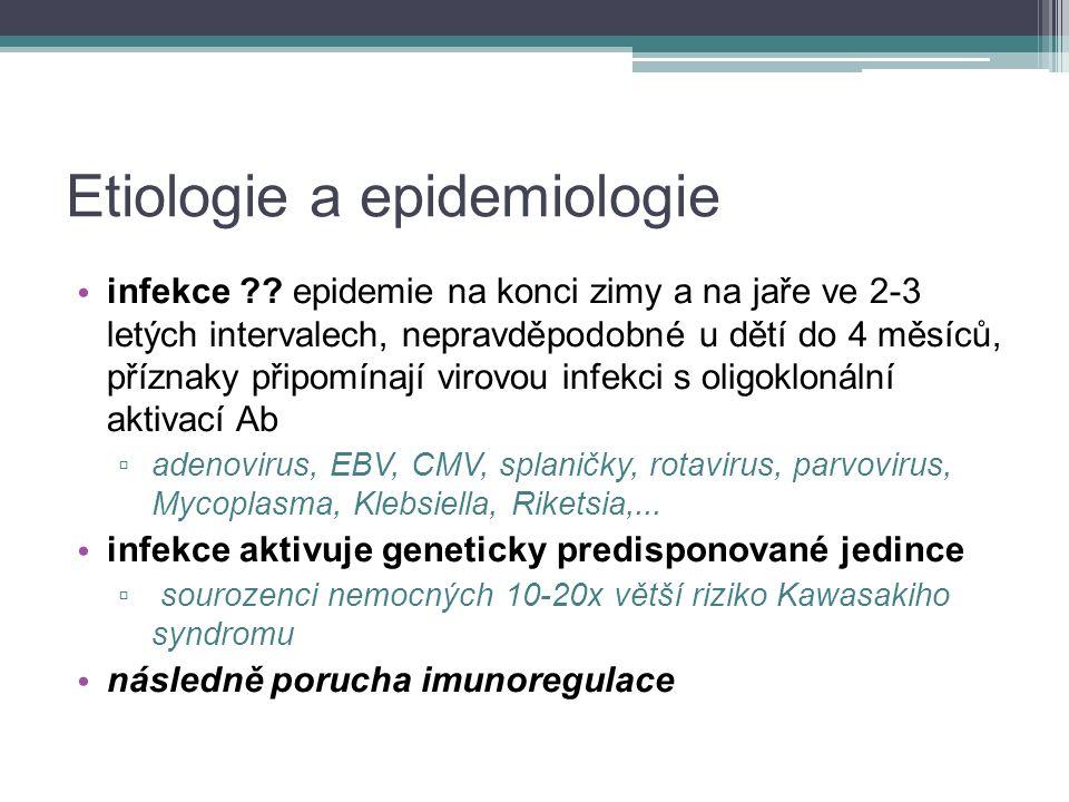Etiologie a epidemiologie infekce .