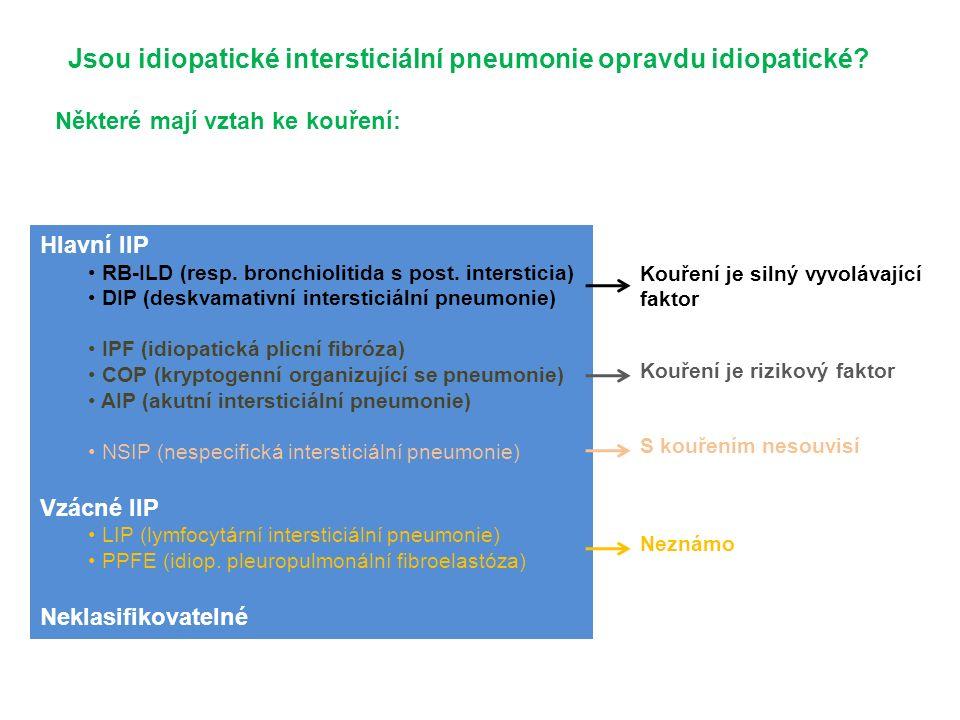 Hlavní IIP RB-ILD (resp. bronchiolitida s post.