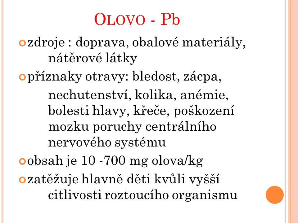 Olovo Pb Olověné střelivo Galenit - PbS