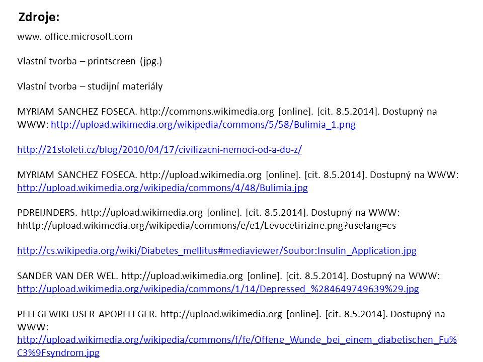 http://21stoleti.cz/blog/2010/04/17/civilizacni-nemoci-od-a-do-z/ MYRIAM SANCHEZ FOSECA. http://commons.wikimedia.org [online]. [cit. 8.5.2014]. Dostu