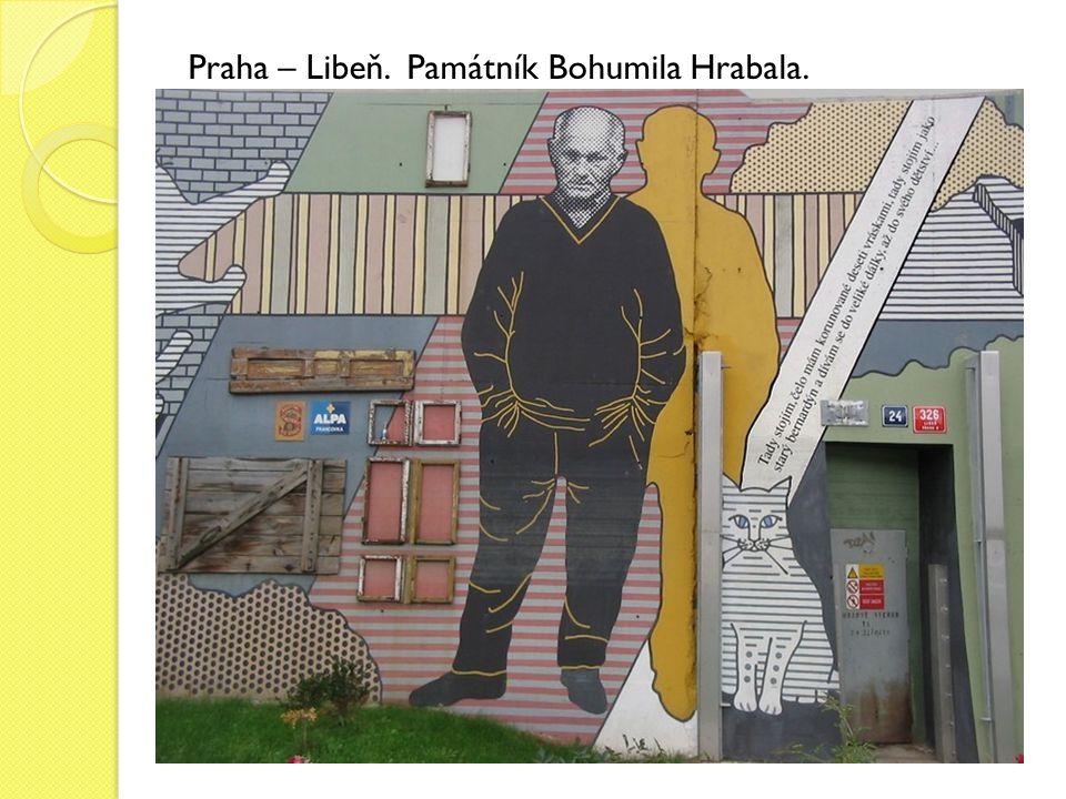 Praha – Libeň. Památník Bohumila Hrabala.
