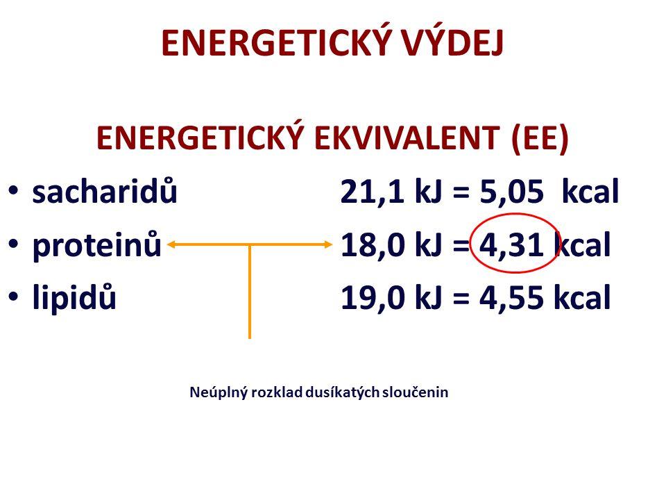 ENERGETICKÝ METABOLISMUS NEPŘÍMÁ KALORIMETRIE NEPŘÍMÁ KALORIMETRIE Měření spotřeby kyslíku (VO 2 ), která je úměrná množství vydané energie za jednotku času Měření spotřeby kyslíku (VO 2 ), která je úměrná množství vydané energie za jednotku času (s výjimkou situací, kdy vzniká a je splácen kyslíkový dluh).