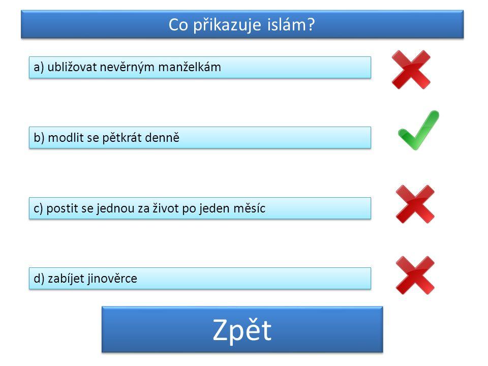 Co přikazuje islám.