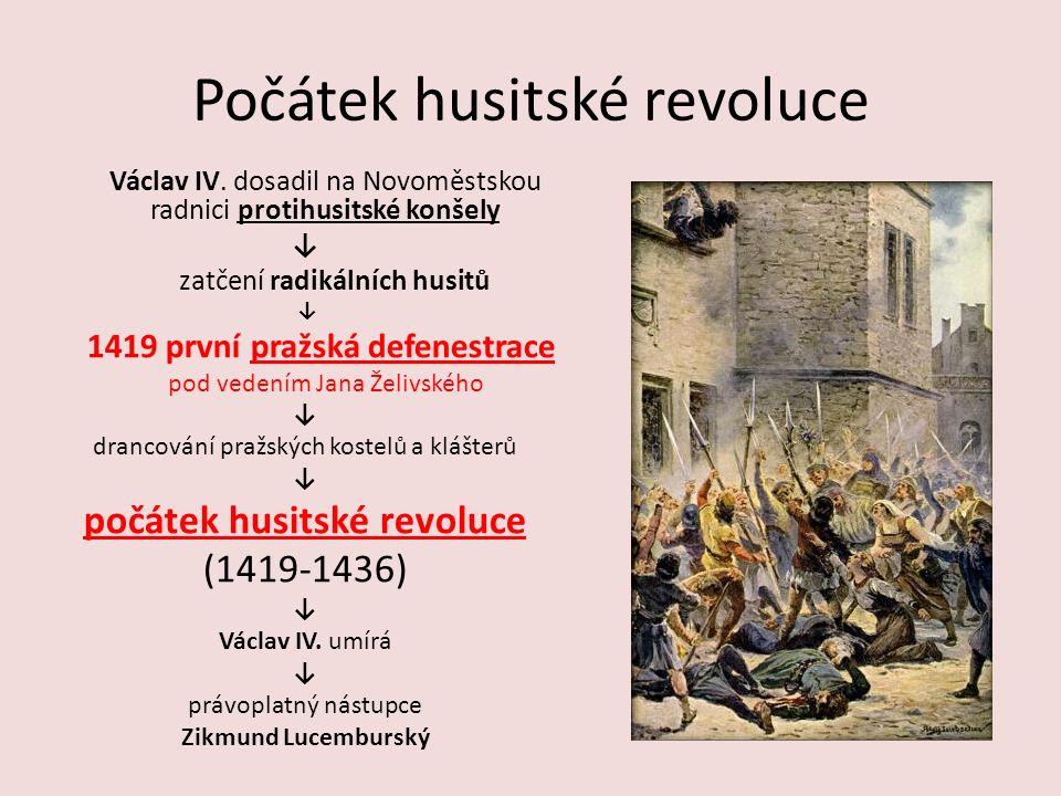 Počátek husitské revoluce Václav IV.