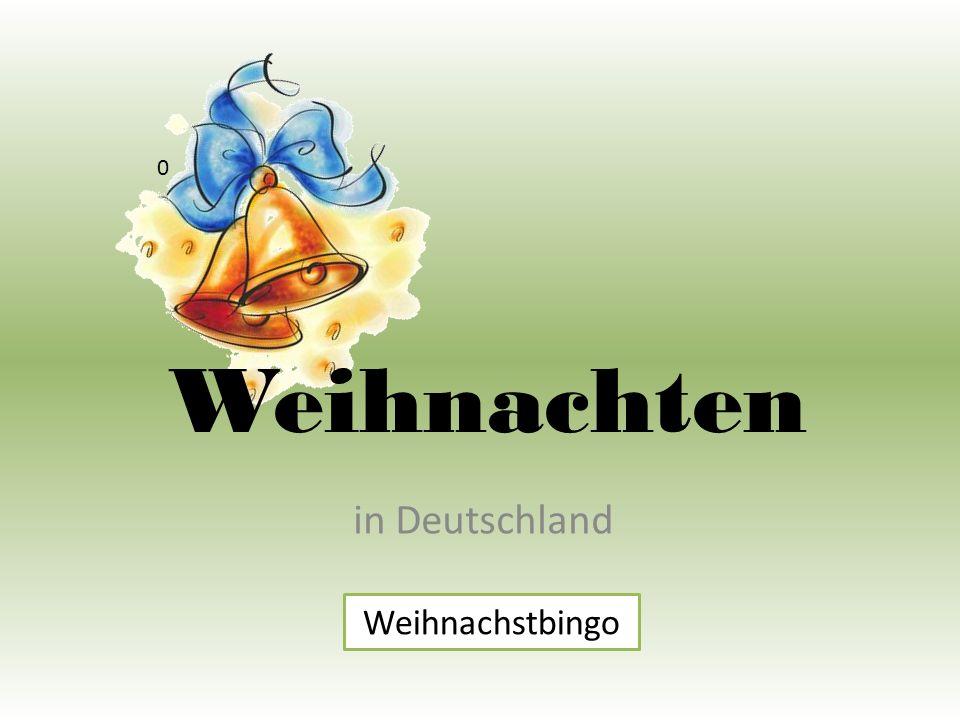 Weihnachten in Deutschland 0 Weihnachstbingo