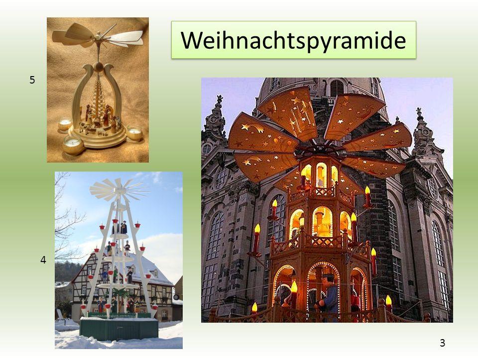 Weihnachtspyramide 3 4 5