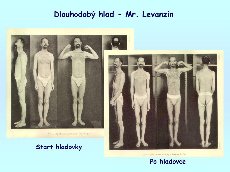 Dlouhodobý hlad - Mr. Levanzin Start hladovky Po hladovce