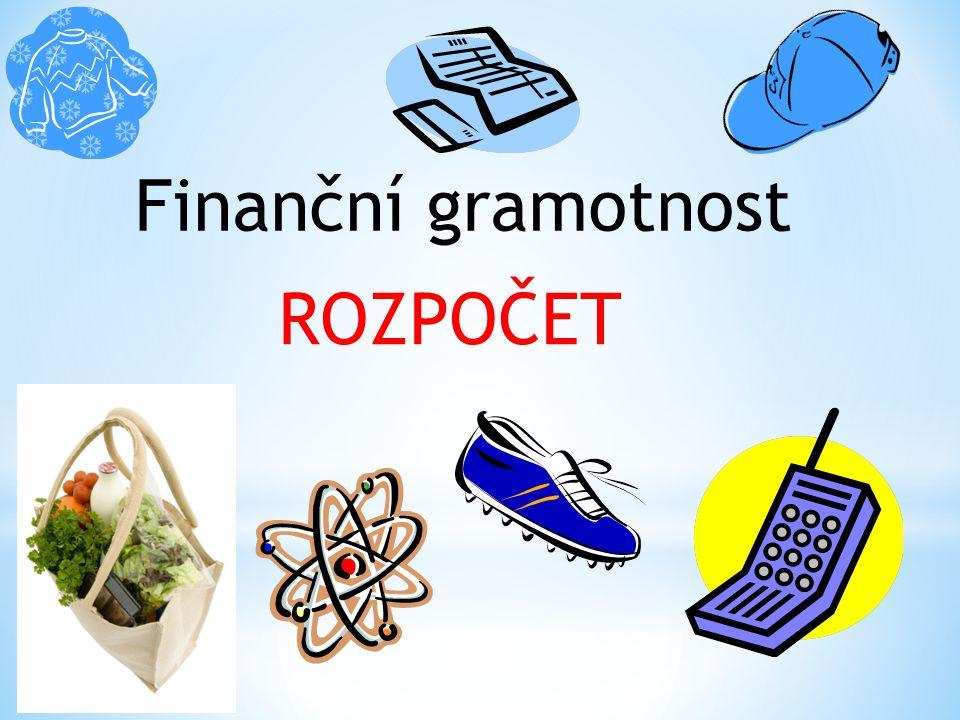 Finanční gramotnost ROZPOČET
