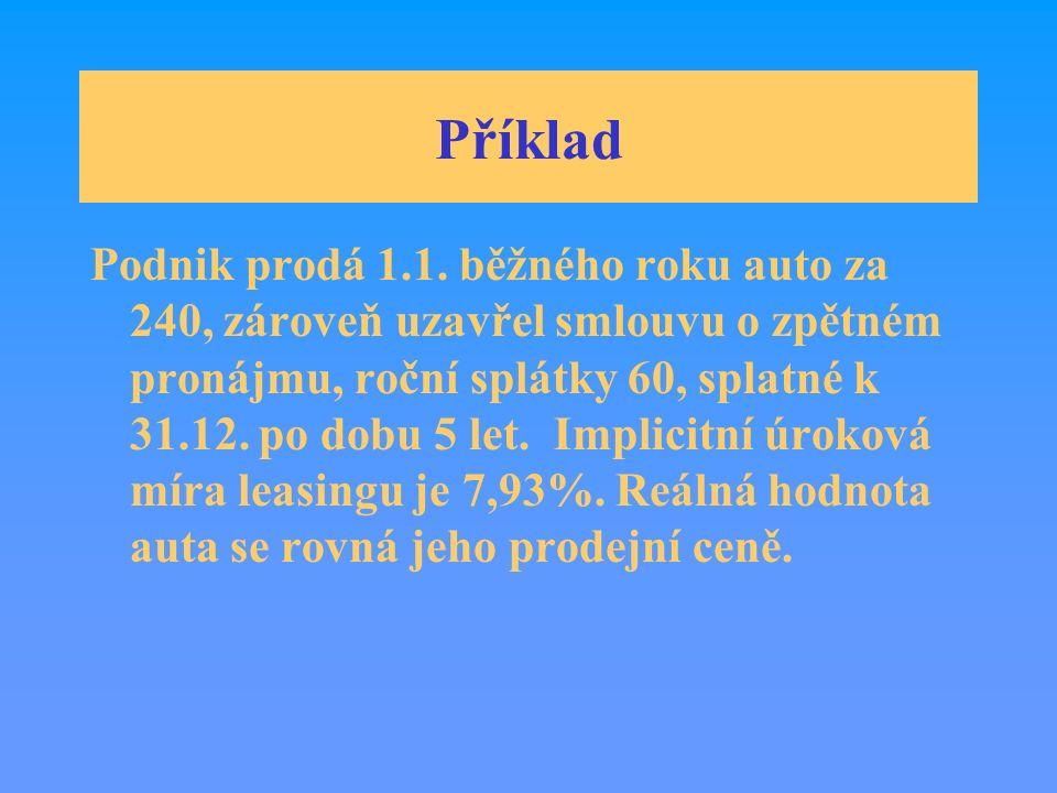 Příklad Podnik prodá 1.1.