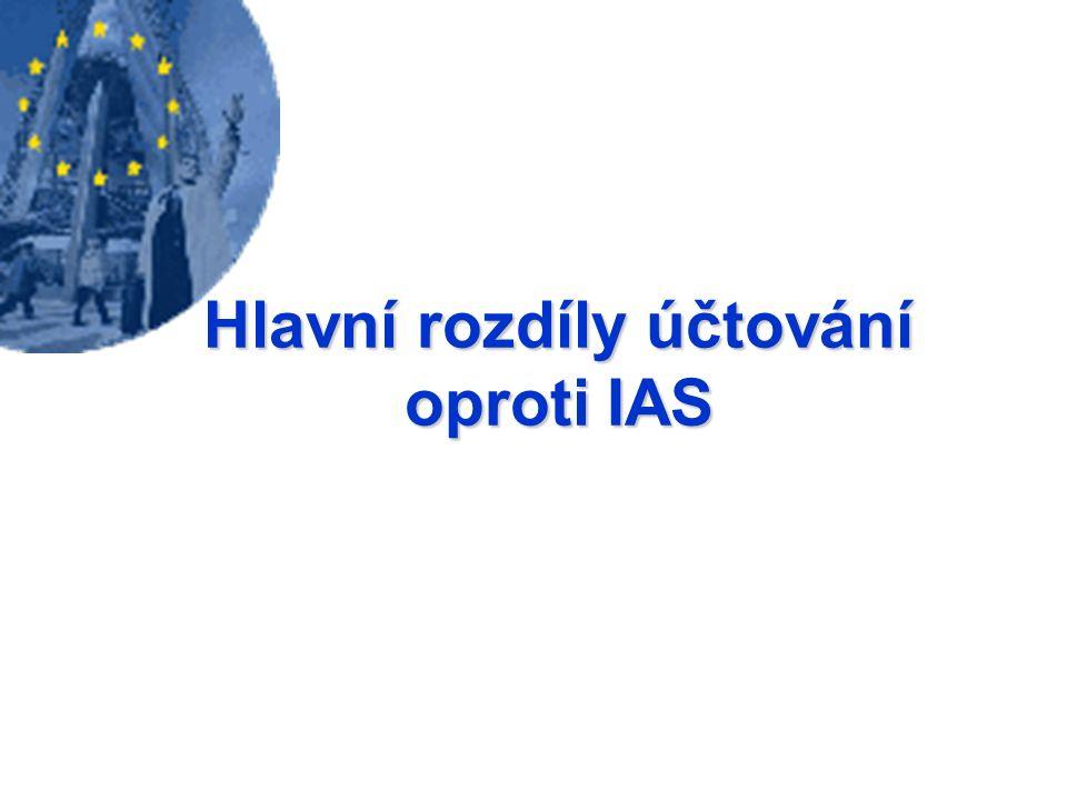 Hlavní rozdíly účtování oproti IAS