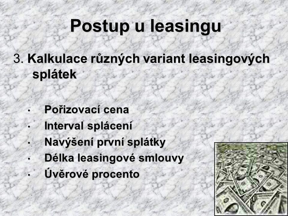 Postup u leasingu 3.