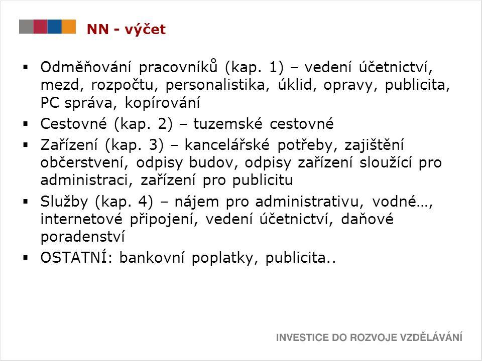 NN - výčet  Odměňování pracovníků (kap.