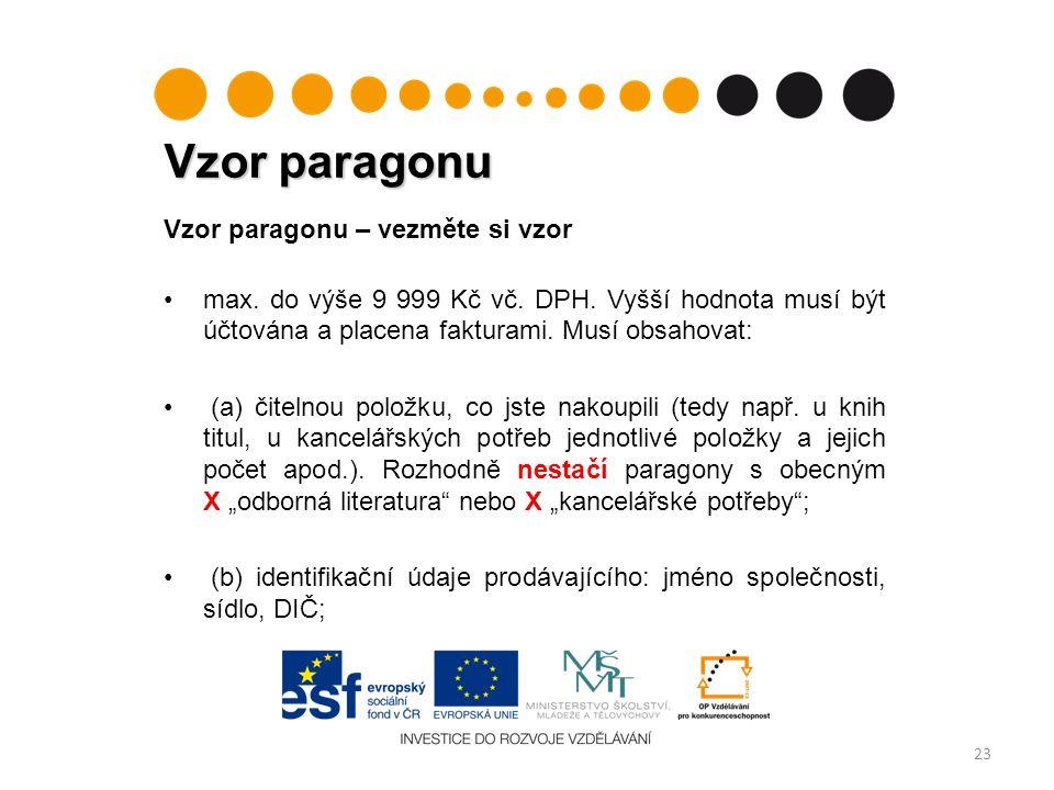 Vzor paragonu 23 Vzor paragonu – vezměte si vzor max.