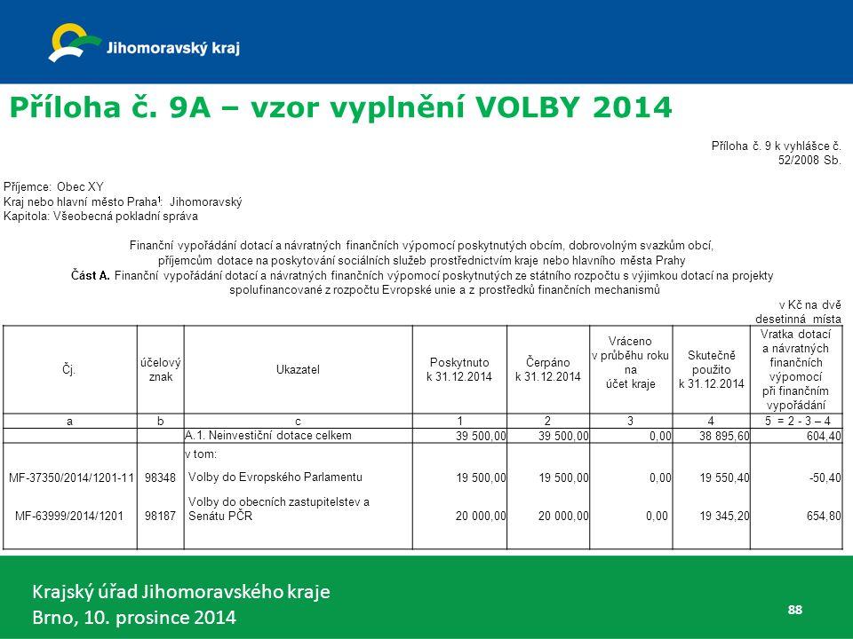 Krajský úřad Jihomoravského kraje Brno, 10. prosince 2014 88 Příloha č.