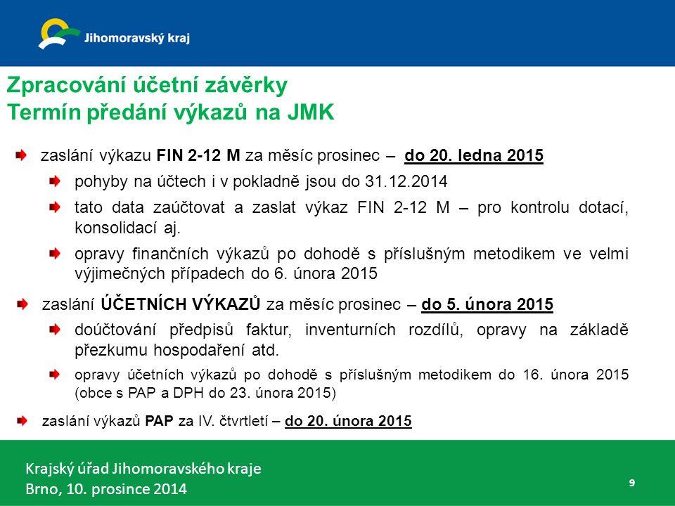 Krajský úřad Jihomoravského kraje Brno, 10.prosince 2014 100 Vyhláška č.