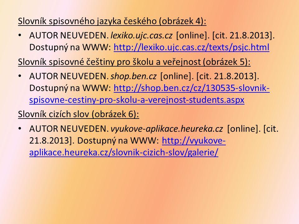 Slovník spisovného jazyka českého (obrázek 4): AUTOR NEUVEDEN.