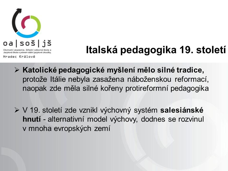 Italská pedagogika 19.