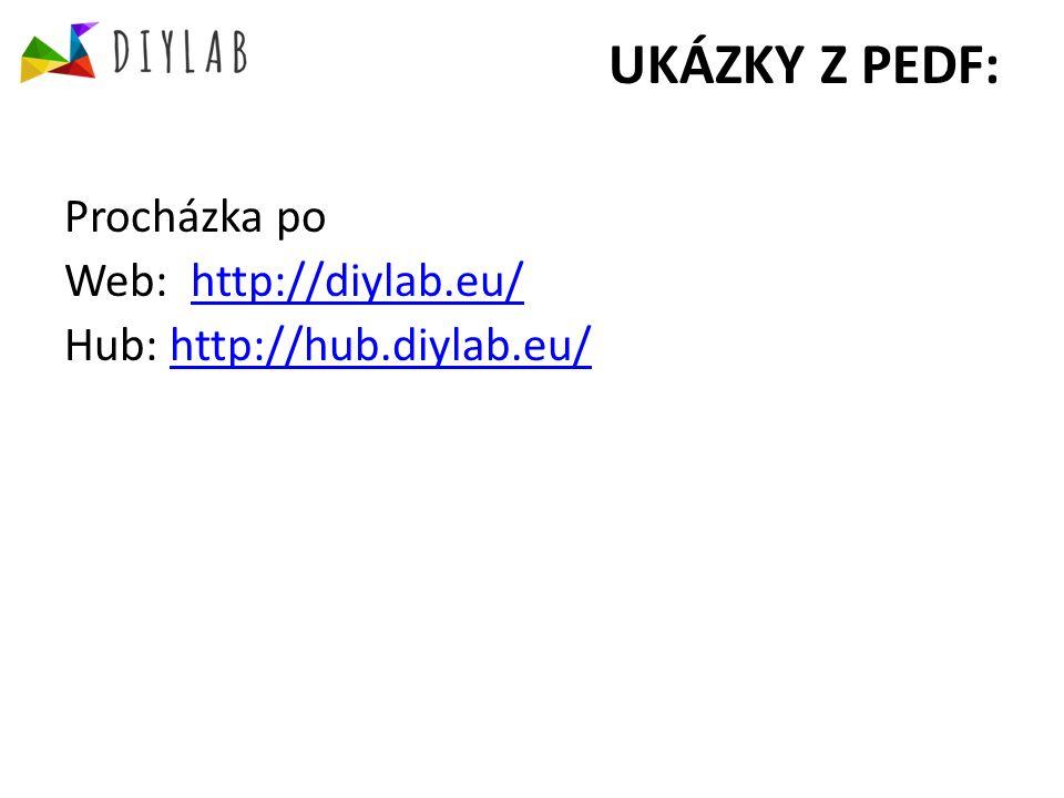 UKÁZKY Z PEDF: Procházka po Web: http://diylab.eu/http://diylab.eu/ Hub: http://hub.diylab.eu/http://hub.diylab.eu/
