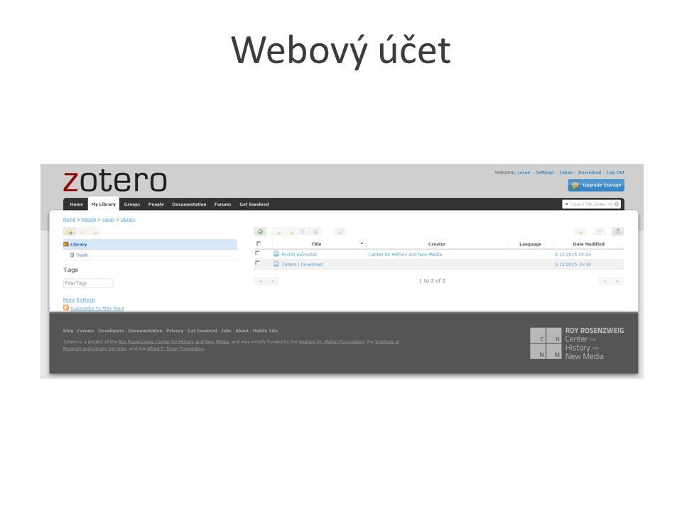 Webový účet