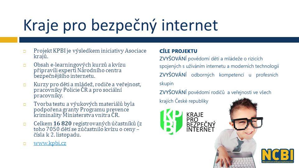 Kraje pro bezpečný internet  Projekt KPBI je výsledkem iniciativy Asociace krajů.