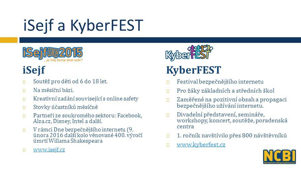 iSejf a KyberFEST iSejf  Soutěž pro děti od 6 do 18 let.