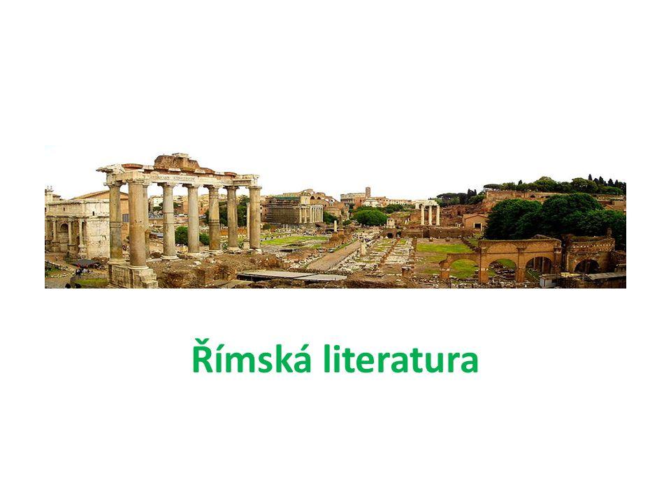 Kontrolní otázky Jak ovlivnila antická řecká literaturu římskou literaturu.