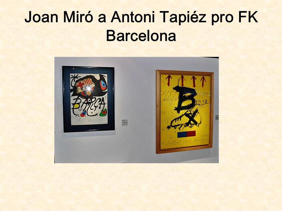 Joan Miró a Antoni Tapiéz pro FK Barcelona