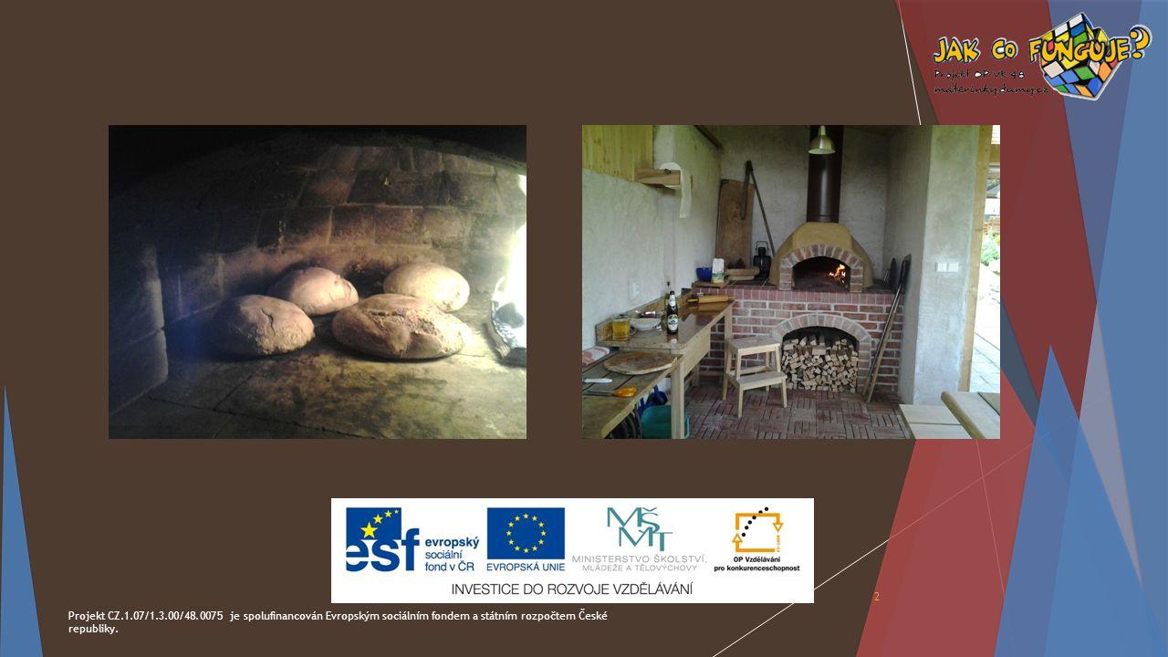 Projekt CZ.1.07/1.3.00/48.0075 je spolufinancován Evropským sociálním fondem a státním rozpočtem České republiky. 2