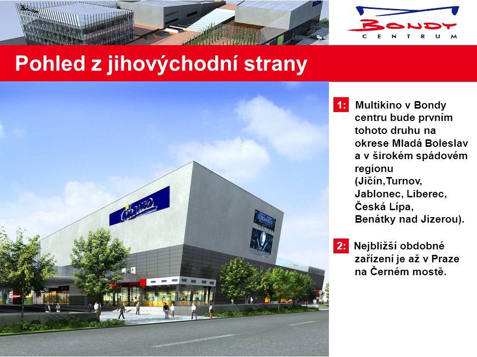 1: Hlavní komunikace městem Mladá Boleslav, která vede přímo kolem Bondy centra 2: Vzdálenost od generálního ředitelství a administrativního centra Šk