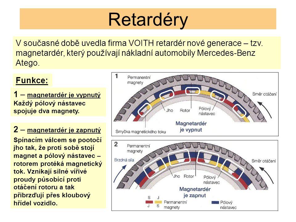 Retardéry V současné době uvedla firma VOITH retardér nové generace – tzv.