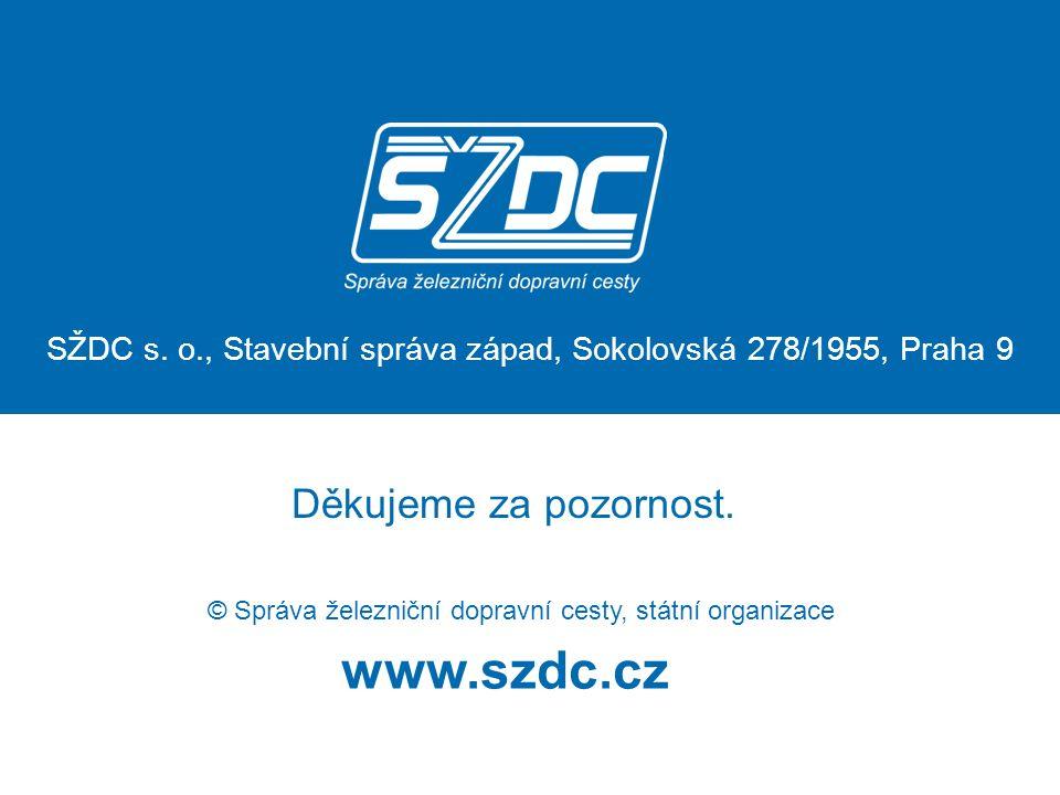 www.szdc.cz © Správa železniční dopravní cesty, státní organizace Děkujeme za pozornost.