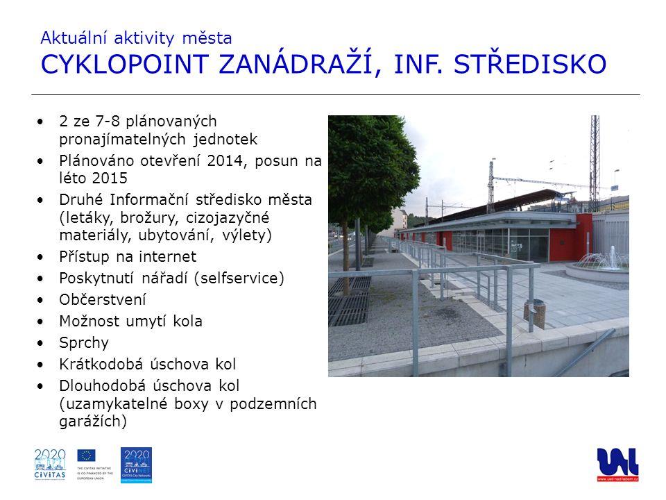 2 ze 7-8 plánovaných pronajímatelných jednotek Plánováno otevření 2014, posun na léto 2015 Druhé Informační středisko města (letáky, brožury, cizojazy