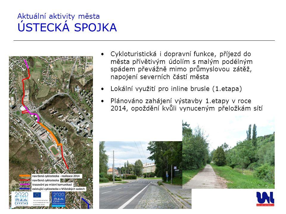 Cykloturistická i dopravní funkce, příjezd do města přívětivým údolím s malým podélným spádem převážně mimo průmyslovou zátěž, napojení severních část
