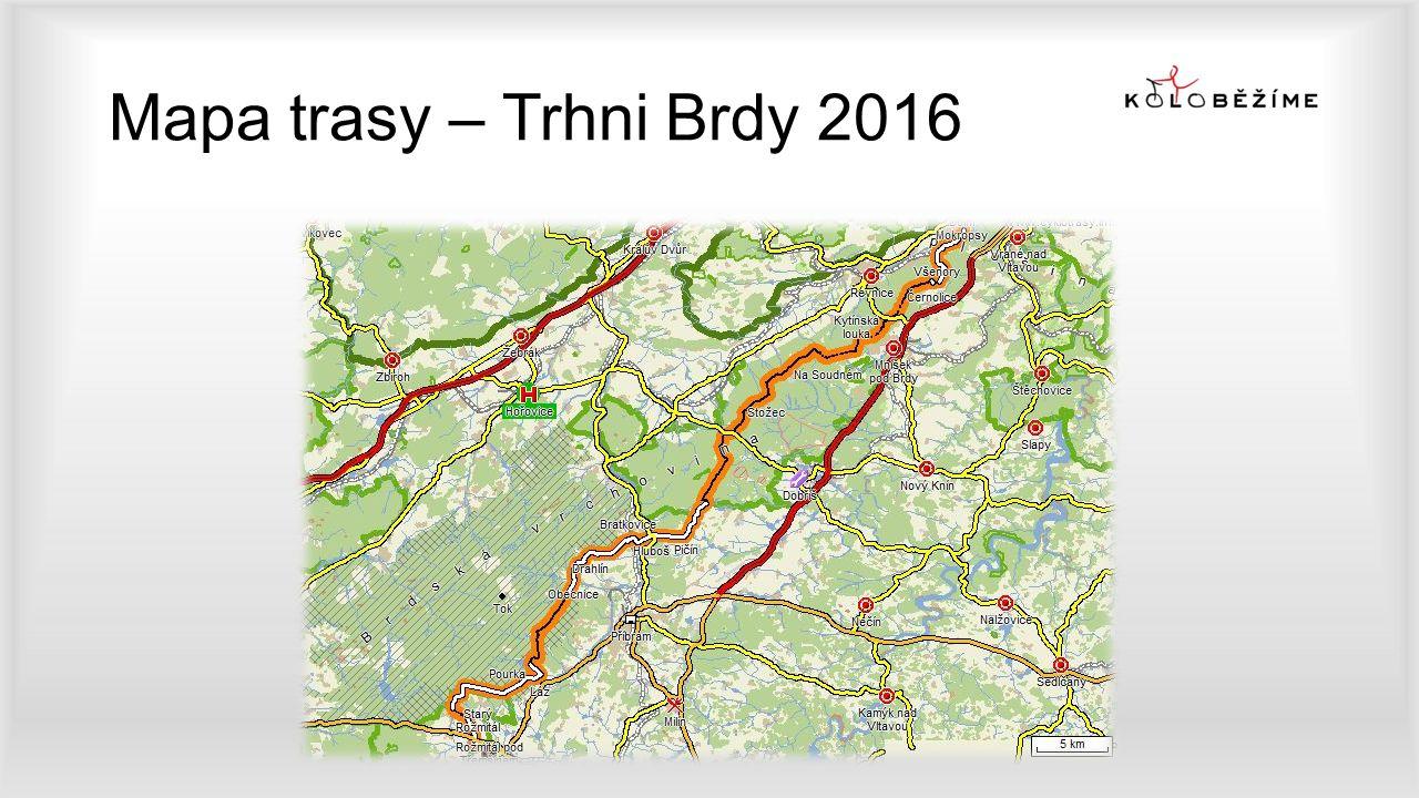 Mapa trasy – Trhni Brdy 2016