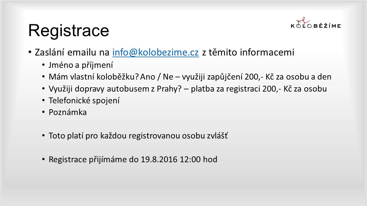 Registrace Zaslání emailu na info@kolobezime.cz z těmito informacemiinfo@kolobezime.cz Jméno a příjmení Mám vlastní koloběžku? Ano / Ne – využiji zapů