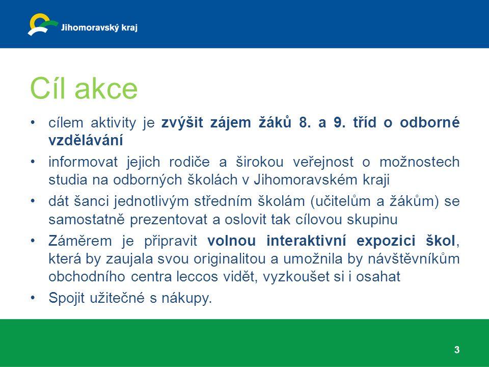Cíl akce cílem aktivity je zvýšit zájem žáků 8.a 9.
