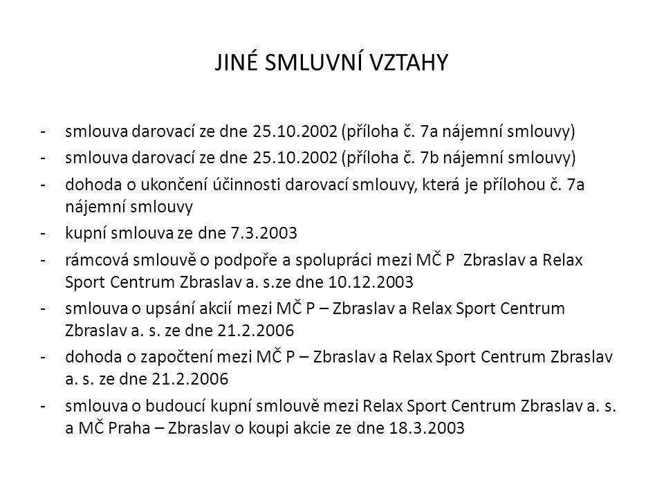 JINÉ SMLUVNÍ VZTAHY -smlouva darovací ze dne 25.10.2002 (příloha č.