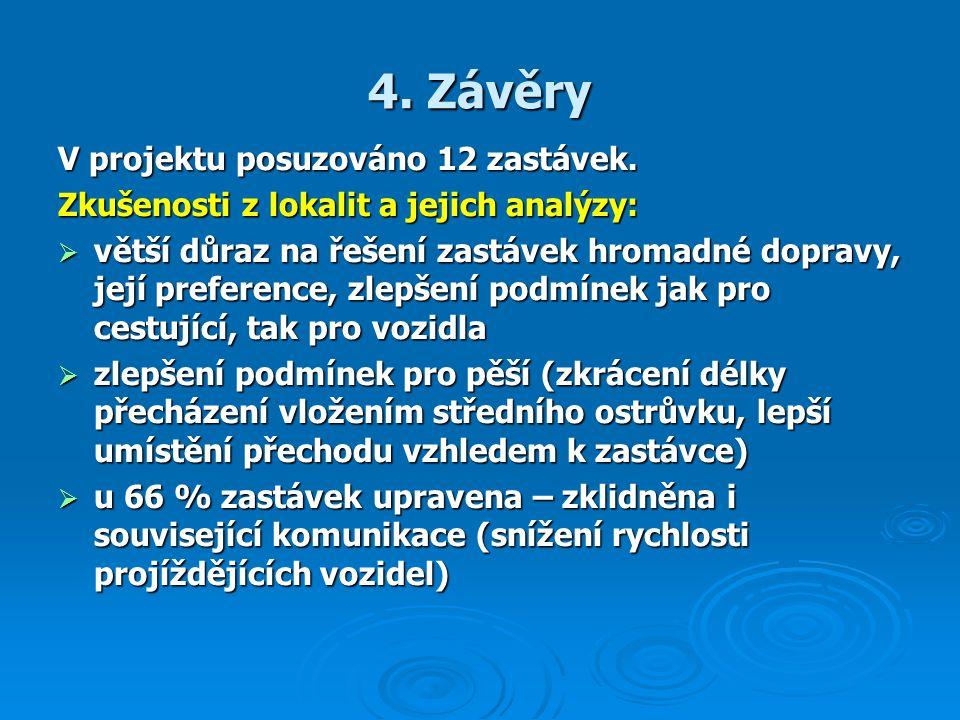 4. Závěry V projektu posuzováno 12 zastávek.