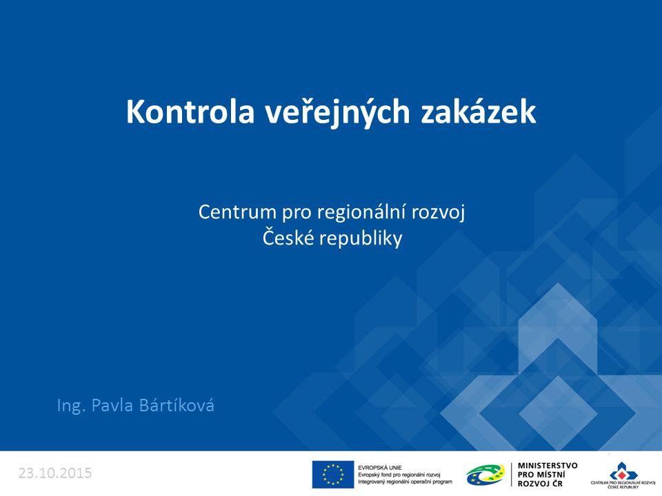 Kontrola veřejných zakázek Ing.