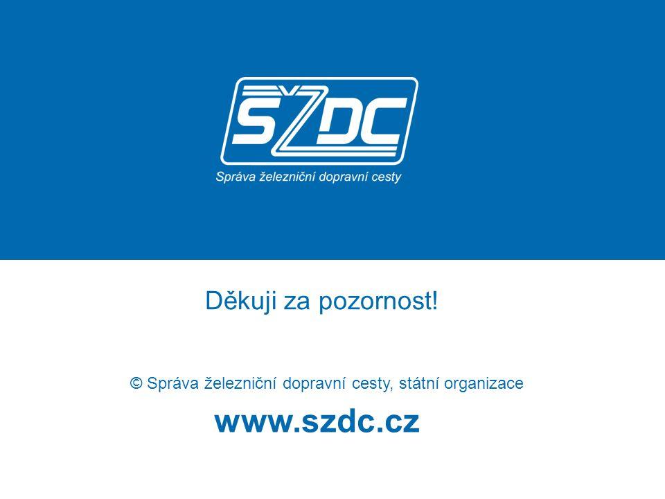 www.szdc.cz © Správa železniční dopravní cesty, státní organizace Děkuji za pozornost!