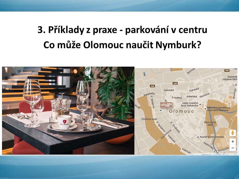 3. Příklady z praxe - parkování v centru Co může Olomouc naučit Nymburk