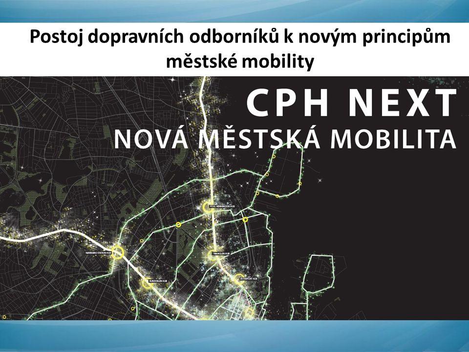 Postoj dopravních odborníků k novým principům městské mobility