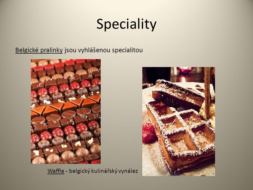 Speciality Belgické pralinky jsou vyhlášenou specialitou Waffle - belgický kulinářský vynález