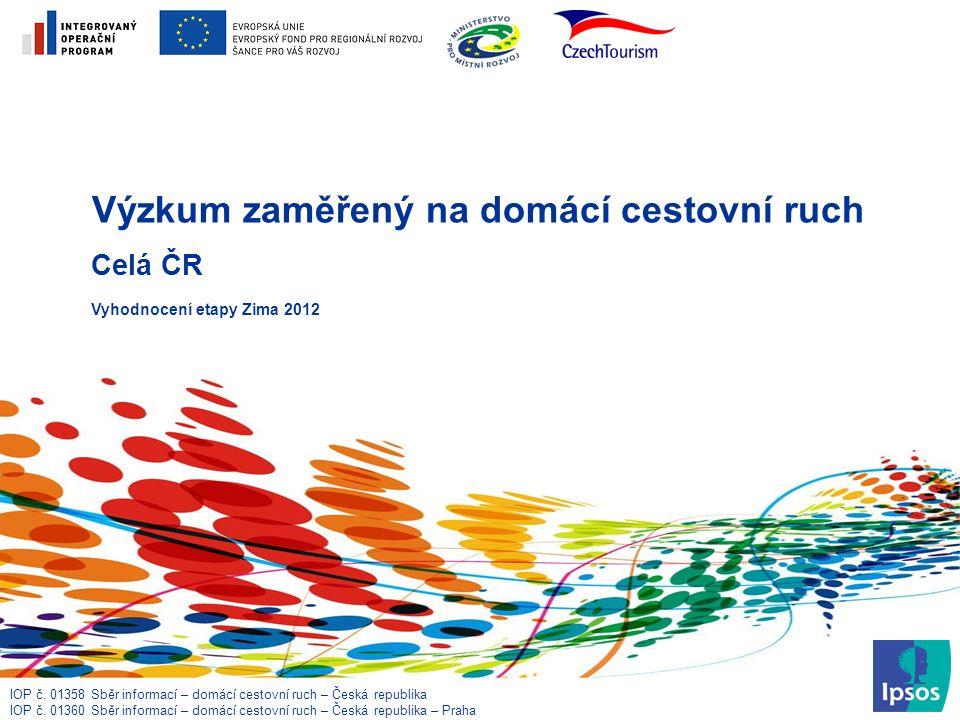 IOP č. 01358 Sběr informací – domácí cestovní ruch – Česká republika IOP č.