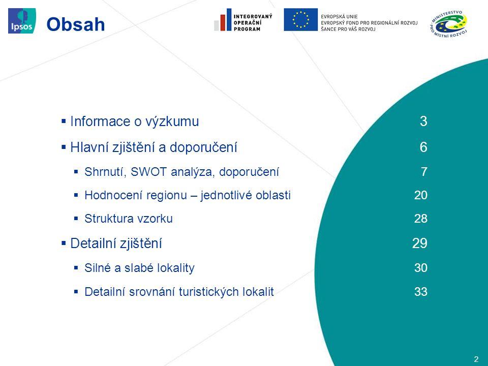 Obsah 2  Informace o výzkumu3  Hlavní zjištění a doporučení6  Shrnutí, SWOT analýza, doporučení7  Hodnocení regionu – jednotlivé oblasti20  Struk