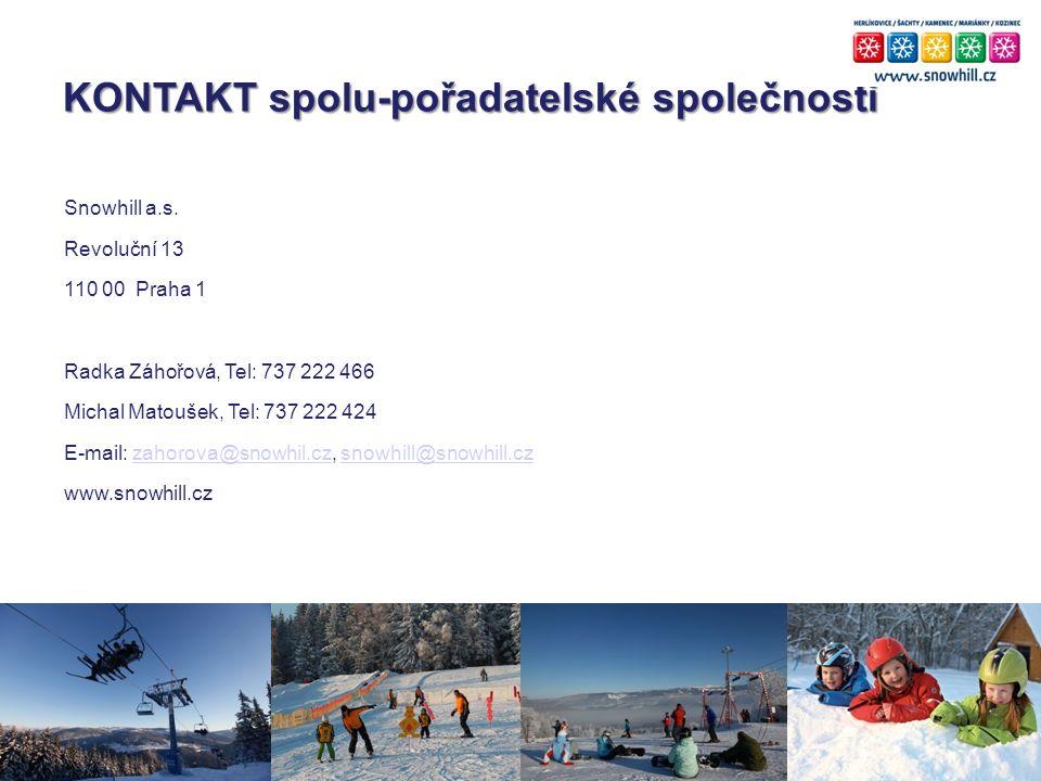KONTAKT spolu-pořadatelské společnosti Snowhill a.s.