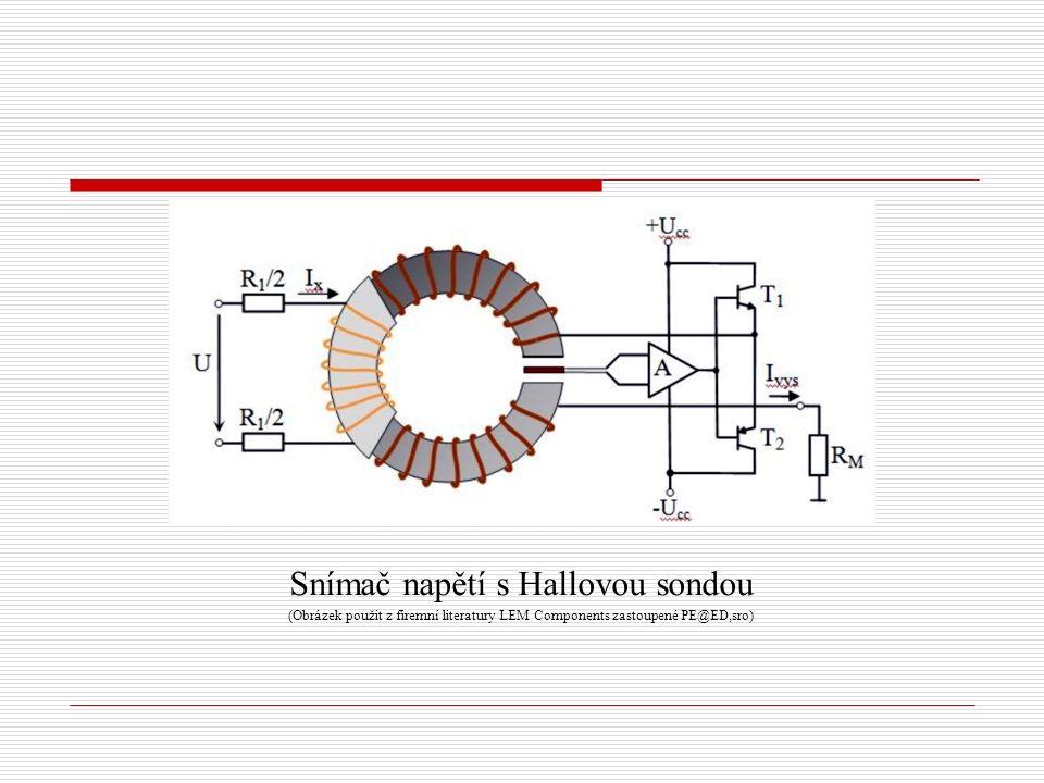 Snímač napětí s Hallovou sondou (Obrázek použit z firemní literatury LEM Components zastoupené PE@ED,sro)