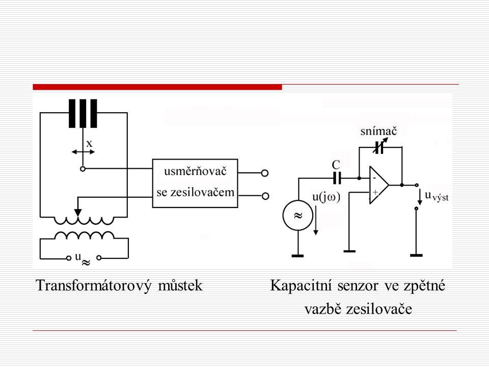 Transformátorový můstek Kapacitní senzor ve zpětné vazbě zesilovače