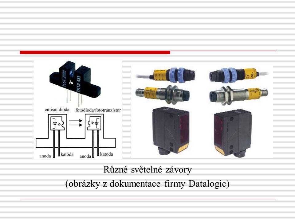 Různé světelné závory (obrázky z dokumentace firmy Datalogic)