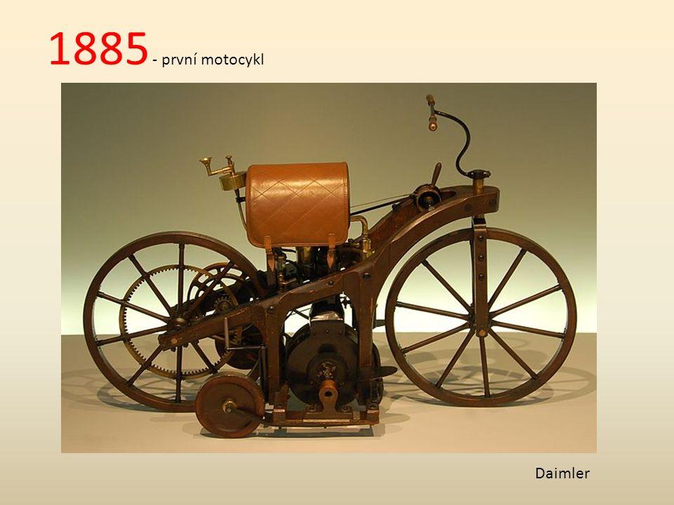Počátky automobilismu - revoluce v dopravě = spalovací motor (Daimler, Diesel) - 1.